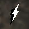 spd: Simple art-style white lightning bolts on an irregular light-gray background (Lightning)