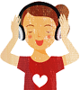 pod_aware: cartoon girl with headphones (Default) (Default)
