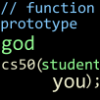 jjhunter: The shorthand declares the function `cs50`, i.e. the cs class, takes input type `student` and returns output type 'god' (cs50)