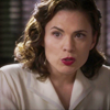 lizcommotion: Agent carter, in white blouse, looking amused (agent carter amused)