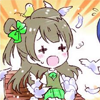 terabient: A distressed Kotori Minami, covered with birds (Love Live: SAVE ME FROM THE BIRDS)