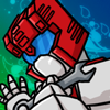 dogstar: First Aid - a white and red robot (first aid)