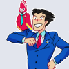 ditz: phoenix wright | i have a bird (❦ manliest couple)