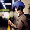terabient: Makoto Yuuki listening to his MP3 player (P3M: Makoto Yuuki)