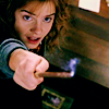 ct: Hermione beginning to cast a spell. (HP: hermione)