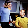mab_browne: Kirk and Spock on the Enterprise bridge (Star Trek)