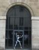 pondhop: white jointed mannequin in glass door (paris opening)