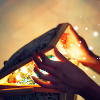 elaineofshalott: Hands opening a shadowed box, with glowy things floating out. (pandora's box)