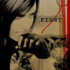 laceblade: Glaring Tifa of FF7, shot taken from Advent Children. Brushing her jaw with clenched fist. Text: FIGHT (FF7: Tifa fight ac)