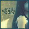laceblade: Shot of Tifa from FF7: Advent Children, looking at viewer, half of face cut off. Text: no white flag above my door (FF7: Tifa no white flag)
