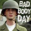 flamingsword: Tiny!Steve captioned Bad Body Day (Bad Body Day)