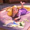 deird1: Rapunzel, doing a jigsaw puzzle (Rapunzel jigsaw)