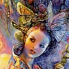 jujyfru1t: A woman wearing a butterfly headdress (iris) (Default)