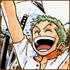 torch: roronoa zoro with a big grin (yay!)