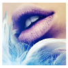 dischargie: (Lips blue feather)