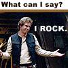 coraa: (han rocks)