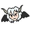 thistledear: scowling chibi aerael head (scowl)