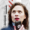st_aurafina: Agent Carter holding a walkie talkie (Agent Carter: Peggy walkie talkie)