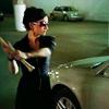 clayr: Kalinda from The Good Wife swinging back a baseball bat to hit a car (Kalinda bat)