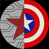 kath_ballantyne: Circle that is half Captain America's Shield and half Winter Soldier Star and lines representing the metal arm (Default)