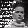 misbegotten: Elizabeth Collins is not amused by your ghostly, vampiric, werewolf antics (DS Elizabeth is Not Amused)