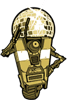 terabient: A robot posing in front of a disco ball that shoots lasers (Borderlands: Claptrap - LASER INFERNO)