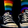 idyll: Rainbow socks in chucks (music - Amanda Palmer - Lick My Legs)