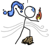 deird1: stick-figure Aang, controlling elements (Avatar xkcd)