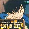 "jordannamorgan: Conan Edogawa, ""Case Closed/Detective Conan"". (Conan Sleep)"