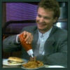 brightknightie: Nick in a diner squirting ketchup on fries (Food)