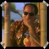 brightknightie: Schanke in a Hawaiian shirt at the Dolph Inn (Schanke)