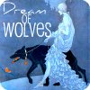 """outlineofash: Artwork of a woman leading a wolf on a leash. Overlaid text reads """"Dream of wolves."""" (RRH - Black Wolf, Text - Dream of Wolves)"""