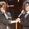 "attie: Sekihan and Piko holding hands during their live performance of ""Magnet"". (utaite - sekipiko magnet)"