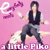 attie: Thumb-sized Piko 'shopped sitting on Piko's hand. 'Cause everybody needs a little Piko. (utaite - little piko)
