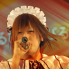 attie: Sekihan in a maid costume during his performance of 「撲殺天使ドクロちゃん」 (utaite - sekihan maid flying hair)