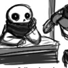sansational: Sans, openly admiring his cool brother (So cool)