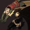 duc: Batgirl II and Robin IV playing around (Batgirl II, Stephanie Brown, Robin IV, Cassandra Cain)