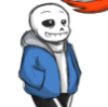 sansational: Sans, following happily along behind Papyrus (Following the leader)
