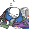 sansational: Sans, in his natural state of impressive laziness (Default)