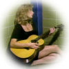 brightknightie: Rebecca with her guitar in jail (Music)