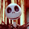 outlineofash: Jack Skellington smiling in delight. (Smile - Delighted)
