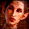 signcherie: My Dragon Age Inquisitor Mirevas, tilting her head (mirevas)