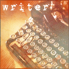 princess: typwriter and caption: writer (writer)