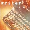 princess: typwriter and caption: writer (writer)