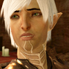 lassarina: Fenris from Dragon Age 2, looking off with a sad expression. (Fenris has a sad)