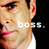 "lassarina: Hotch, from Criminal Minds, captioned with ""Boss"" (Hotch is the best mama bear)"