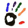 goss: (Heart - paint hands)
