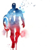 goss: (Captain America - watercolour)