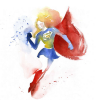 goss: (Supergirl - watercolour)
