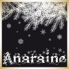 "anaraine: A tree branch covered in snow, with the word ""Anaraine"" underneath. ([default] let it snow)"
